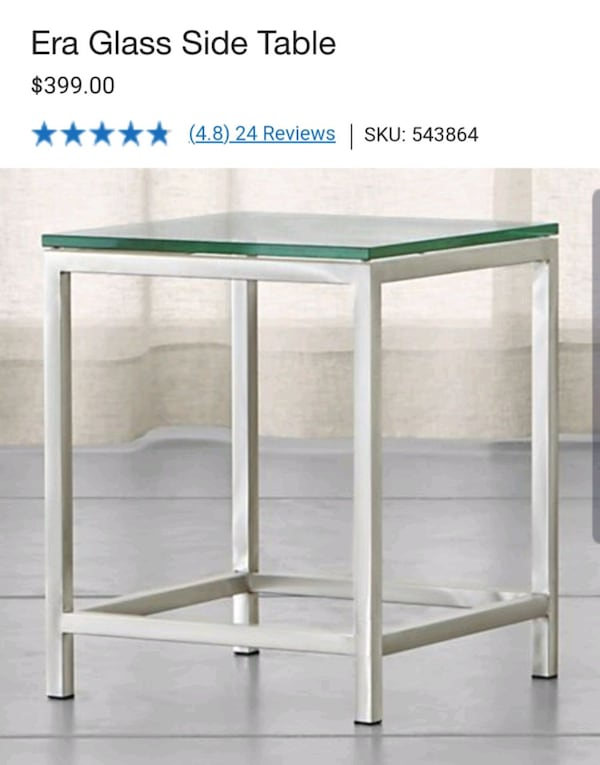Crate & Barrel coffee table and side table 473023aa-e205-454a-aaa1-6042cbc826c6