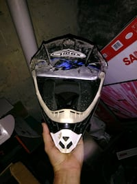 white and black motocross helmet Hagerstown, 21740