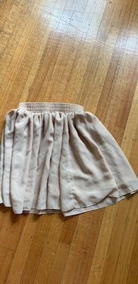 Beige chiffon mini skirt