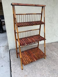 Collapsible Bamboo Shelving Unit Baltimore, 21205