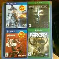 Holidays! $15 Brand new PS4 / XboxOne games Mississauga, L5N 4N2