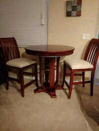 Wooden counter height high table and 2 chairs Dover, 33527