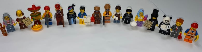 The LEGO Movie Complete Series of 16 Minifigures