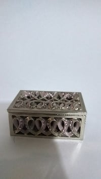 Small detailed jeweled jewelry box