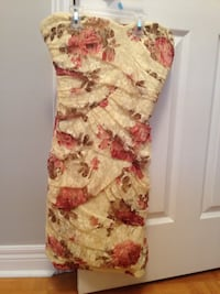 Pink and white floral sleeveless dress brand new never worn