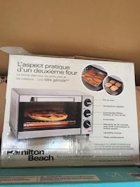 black and gray toaster oven box Dollard-des-Ormeaux, H9A 3C8
