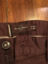 Burgundy trousers 34 x 30 Surrey, V3S 1N4