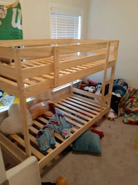 Bunk bed with two nightstands. Can get brand new mattress