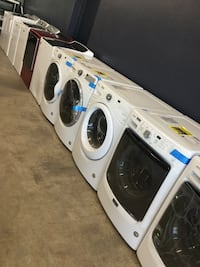 white and black clothes washer and dryer set St. Charles, 63303