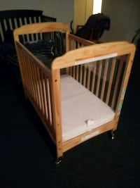 brown wooden crib with mattress Santa Fe Springs, 90670