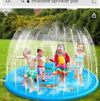 Inflatable spinkler pad for kids, 1-12 years old