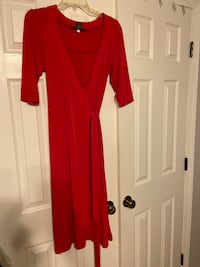 Red wrap dress from target