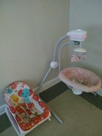 baby's white and pink cradle and swing Washington, 20002