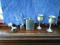 stainless steel chalices, knob, liquor flash Vallejo, 94590