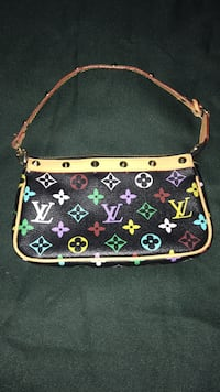 Louis Vuitton Pochette Multicolor/ Black Canvas Clutch Montgomery Village, 20886