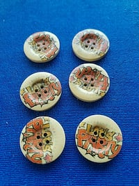 wood buttons 6ps.