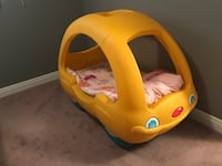 Yellow plastic car bed frame