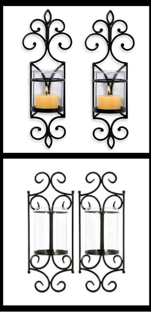 San Miguel- Original Design Set of 2 Wall Sconces  eb93fca6-8b60-47ba-bfd6-0f133a4af864
