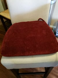 like new garnet/red chairs pads.  4 total.   Puyallup, 98374