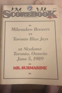 First ever program at skydome jays game Toronto, M5S 2J2
