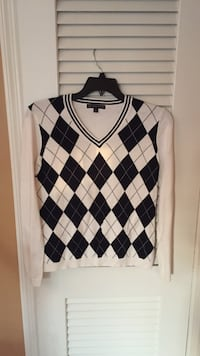 Brooks Brothers white argyle sweater - size large Franklin Square, 11010