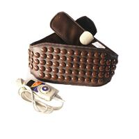 black and brown leather belt NEWDELHI