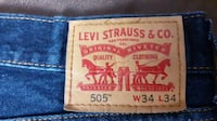 Levi Jeans Mens 505 34/34 NEW WITHOUT TAGS Cuddy