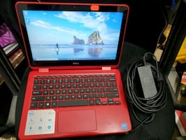 """11.6"""" Dell Inspiron 11 3168 2in1 Touch Red Laptop Computer"""