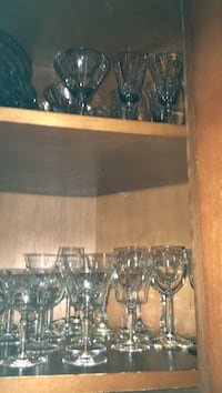 Assorted wine and parfait glass lot