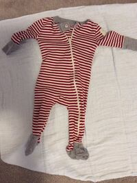 Baby's red and white stripe footie pajamas Kitchener, N2P 0E2