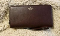 Kate Spade plum leather bi-fold wallet Fort Washington, 20744