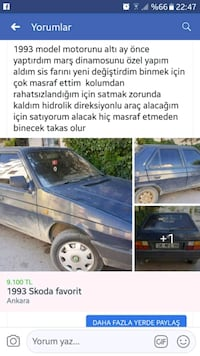 Skoda - Favorit / Forman / Pick-up - 1993 Ankara