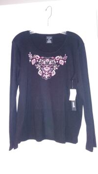Womens PXl. Black cotton shirt