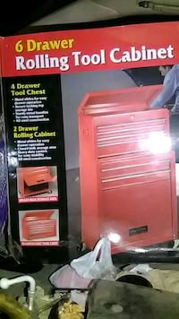 red and black tool chest / toolbox  1464 mi