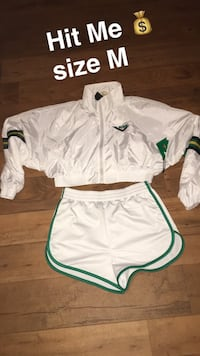 white and green Nike jersey shirt and shorts Riverside, 92503