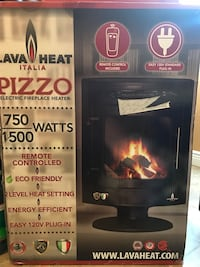 Lava Italia Pizzo Electric Fireplace heater box