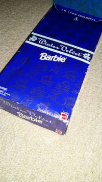 Winter velvet Barby Original. Unopened with display stand