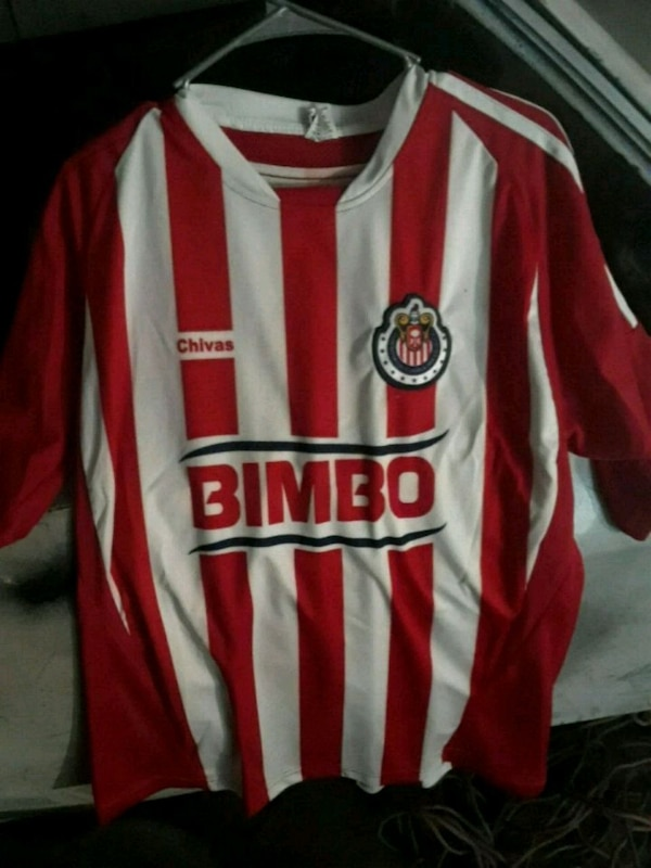 c7a74ddc31d Used red and white Bimbo Chivas soccer jersey for sale in San Jose - letgo