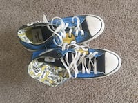 pair of blue-and-white low top sneakers Houston, 77084