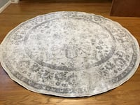 Safavieh ivory/silver 8' round rug. New. Currently $143 on Amazon. Just doesn't go with my furniture. Red Bank, 07701