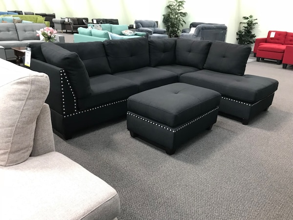 Blk rev sectional