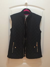 Women's Zulily Black Quilted Vest Herndon, 20171