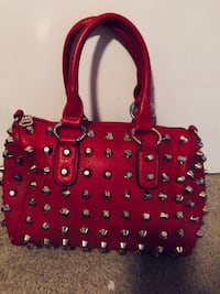 Women's red leather tote bag Elgin, 78621