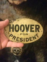 Hoover for president decal. Lewiston, 04240