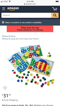 Sort and Snap toy