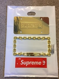 Supreme x Gold Car Plate 23 km