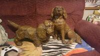 two brown dog figurines