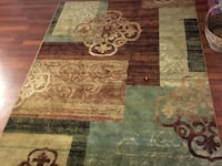 brown and gray floral area rug Gaithersburg, 20879