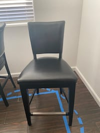 Black Leather and Wood High Top Chairs Las Vegas, 89139
