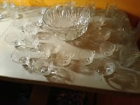 Crytal punch bowl and glasses Philadelphia, 19132
